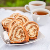 Potica, Slovenian Walnut Roll Stock Photo