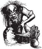 Potier, créateur, clown - dirigez l'illustration à main levée illustration de vecteur