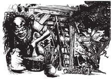 Potier, créateur, clown - dirigez l'illustration à main levée illustration libre de droits