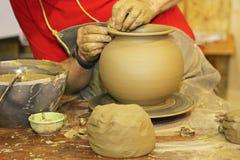 Potier et argile Image libre de droits