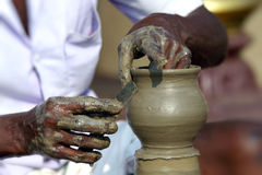 Potier indien Photos libres de droits
