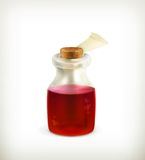 Potion, icon. Computer illustration on white background Royalty Free Stock Images