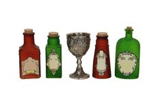 Potions and chalice Stock Images