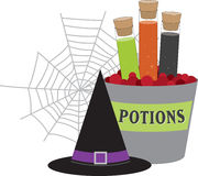 Potions & Props Stock Photography
