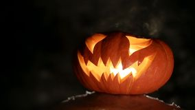 Potiron brûlant Halloween bouclé clips vidéos