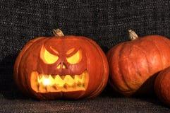 Potiron brillant de Halloween Photographie stock libre de droits