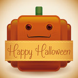 Potiron brillant heureux mignon de Halloween illustration stock