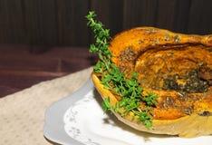 Potiron cuit au four avec des épices Photo libre de droits