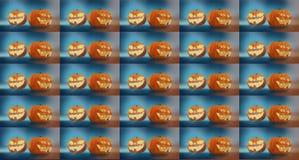 Potiron découpé de veille de la toussaint les potirons Halloween 3d de fond rendent Image stock