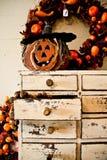 Potiron découpé en bois Image stock