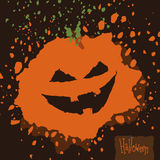 Potiron d'éclaboussure de Halloween illustration stock