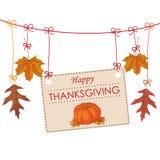Potiron d'Autumn Thanksgiving Banner Foliage Line Images stock
