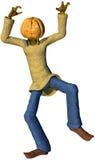Potiron d'isolement par Halloween de lanterne de Jack O illustration stock