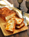 Potiron de Butternut et pain de feta Photos stock