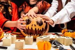 Potiron de cric de Halloween Image libre de droits