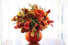 Potiron de fleur de Halloween Photographie stock