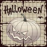 Potiron de Halloween au-dessus de vieux papier Photos libres de droits