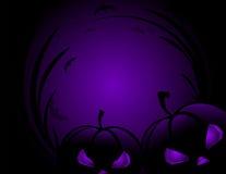 Potiron de Halloween avec le fond de vacances de feuilles Image stock