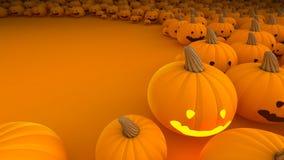 Potiron de Halloween beaucoup à l'arrière-plan avec l'espace ouvert Photo libre de droits