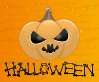 Potiron de Halloween de bande dessinée. Images libres de droits