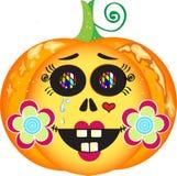 Potiron de Halloween de vintage Images libres de droits