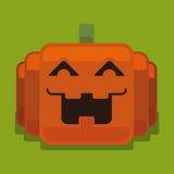 Potiron de pixel de Halloween illustration libre de droits