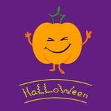 Potiron de sourire de Halloween Image libre de droits
