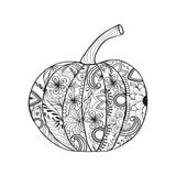 Potiron de style de Zentangle pour le jour de thanksgiving, Halloween Image libre de droits