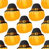 Potiron de thanksgiving avec le chapeau sans couture Photo libre de droits