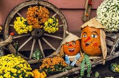 Potiron deux drôle pour Halloween Photo libre de droits