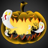 Potiron du jour de Halloween Illustration de Vecteur