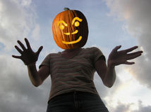 Potiron effrayant Image stock