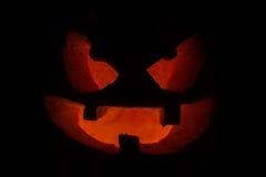 Potiron effrayant de visage de Halloween Photos libres de droits