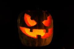 Potiron effrayant de visage de Halloween Photographie stock libre de droits