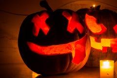 Potiron effrayant de visage de Halloween Images libres de droits