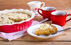 Potiron et gâteau aux pommes Images libres de droits