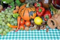 Potiron et légumes Photographie stock libre de droits