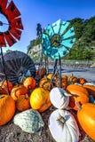 Potiron et moulin à vent Photo stock