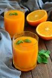 Potiron et orangeade images stock