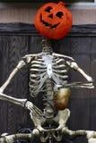 Potiron et squelette Photo libre de droits