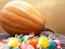 Potiron et sucreries Image stock