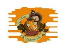 Potiron et tarte de jour de thanksgiving illustration libre de droits