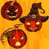 Potiron figé de Halloween Photographie stock