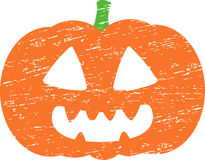 Potiron grunge de Halloween Photographie stock