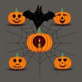 Potiron jaune Halloween Image libre de droits