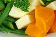 Potiron, pomme de terre et haricots Photo libre de droits