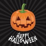 Potiron pour Halloween sur le vecteur de fond Images libres de droits