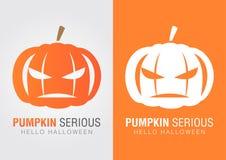 Potiron sérieux pour un événement de Halloween Photographie stock libre de droits