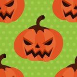 Potiron sans couture de Halloween de modèle avec des points de polka Photographie stock