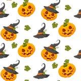 Potiron tiré par la main de Halloween de bande dessinée de dessin Griffonnage de peinture d'automne de Halloween illustration libre de droits